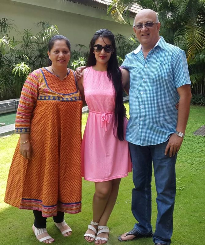 Sai Lokur with her parents