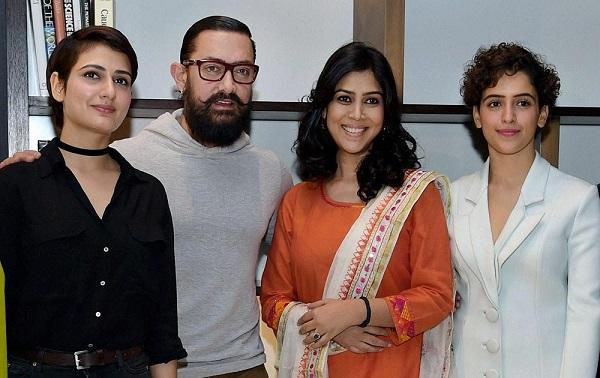 Sakshi with Aamir Khan, Fatima Sana Shaikh and Sanya Malhotra