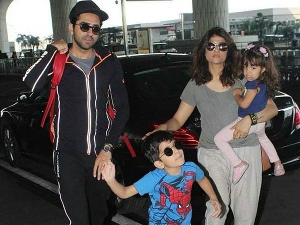 Tahira Kashyap with her family