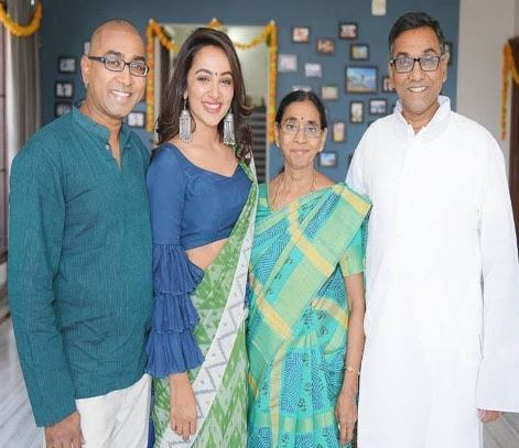 Tejaswi Madivada with her family