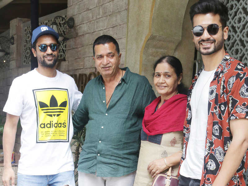 Vicky Kaushal with his family