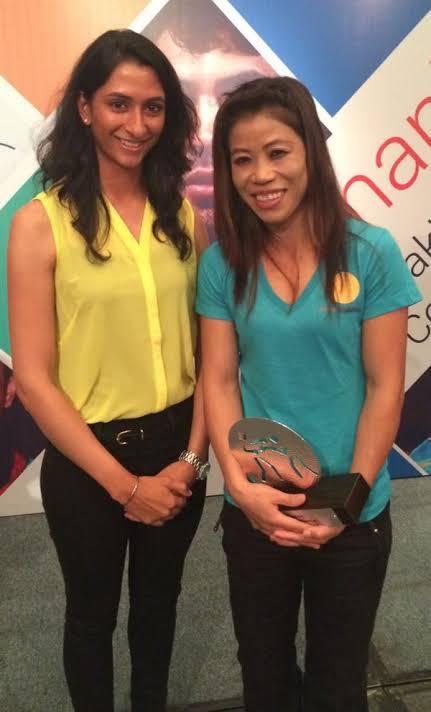 Anisha Padukone with Mary Kom