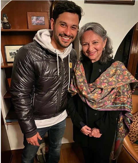 Kunal Khemu with mother-in-law Sharmila Tagore