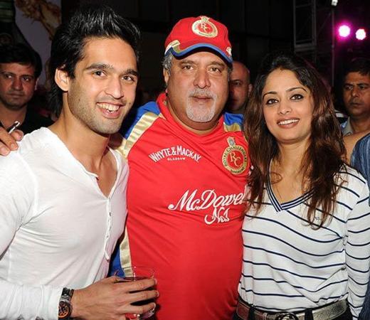 Pinky Lalwani with Vijay Mallya & Siddharth Mallya