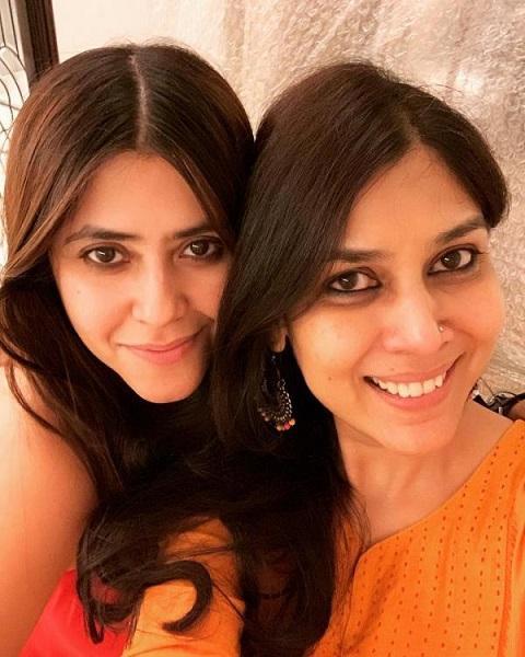 Sakshi with Ekta Kapoor