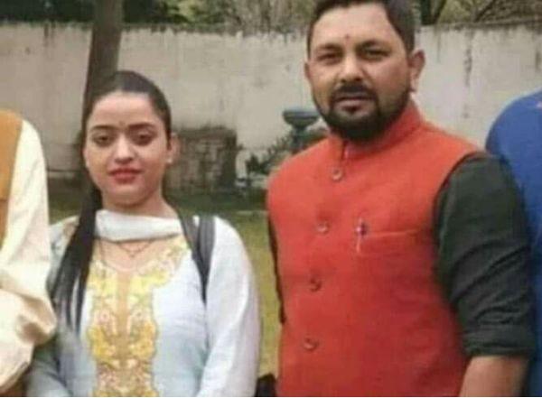 Reena Thakur with Upen Pandit
