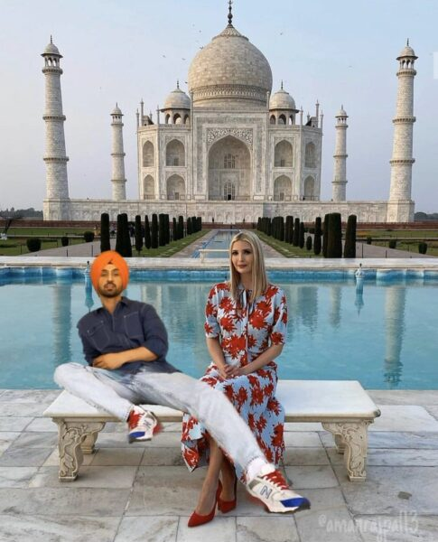 Diljit Dosanjh's photoshopped pic with Ivanka Trump