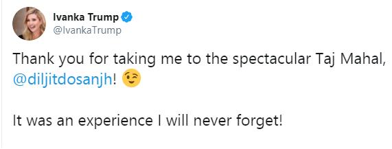 Ivanka Trump's tweet