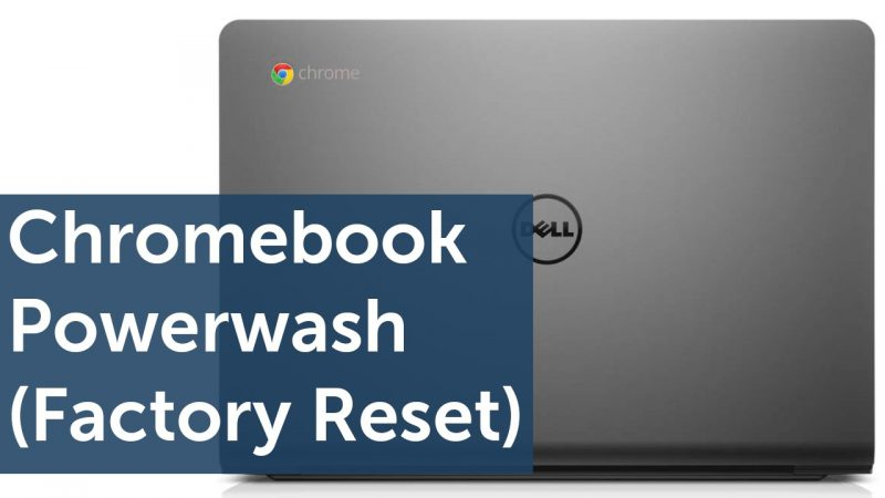 Reset Chromebook