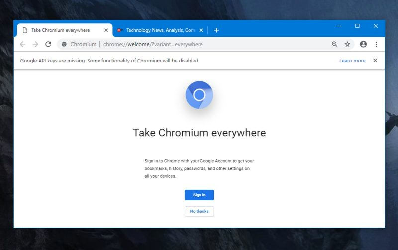 Uninstall Chromium