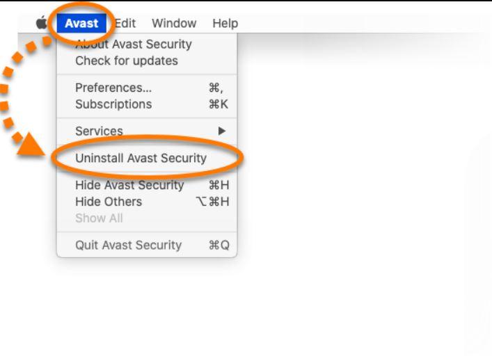 Remove Avast on Mac