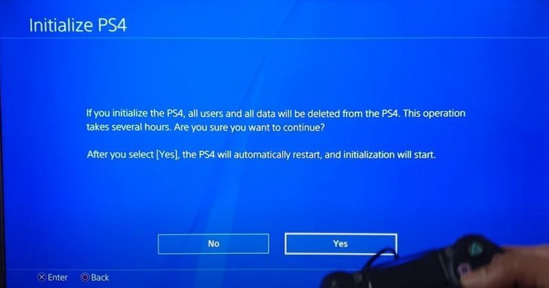 Factory Reset PlayStation 4