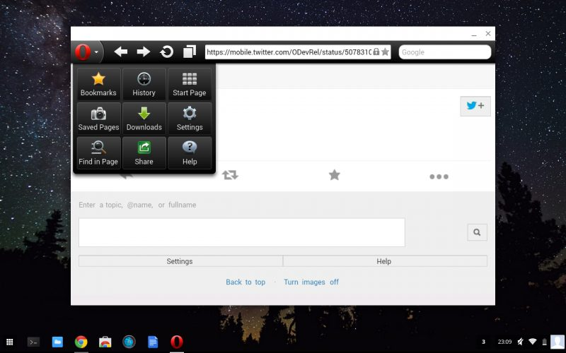 Browsers on Chromebook